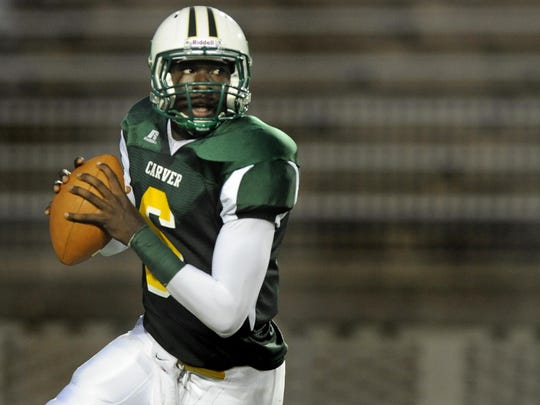 Former Carver High and Auburn University quarterback Jeremy Johnson during a game in 2011.