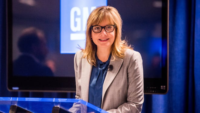 General Motors Chairman and CEO Mary Barra announced a deal to sell Opel to PSA Groupe on Monday, March 5 2017. In this photo, from 2016, Barra was announcing GM's financial results.