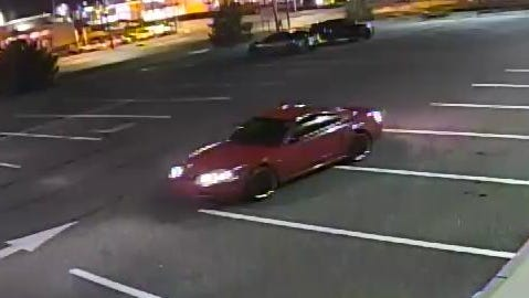 Police are looking for suspects who attempted to pass counterfeit $100 bills at two Vineland businesses on Monday. The suspects left the scene in this vehicle, police said.