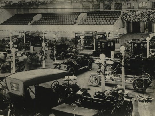 At the first Milwaukee Auto Show in 1909, models included