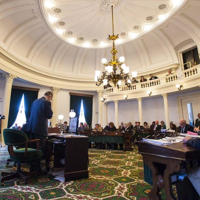 The Senate gave final approval to a marijuana legalization bill by roll call vote at the Statehouse in Montpelier in February. The House on Monday was debating legalization, but prospects for passage appeared slim.