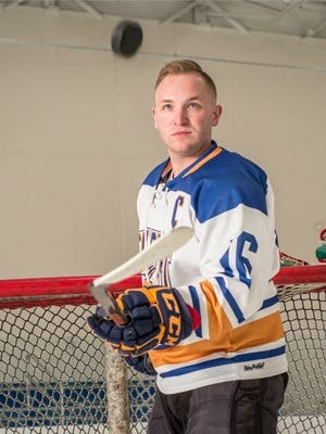Andrew Lindsay has had a flipping great time playing hockey at Schoolcraft College the past two seasons. He is leaving the team's active ranks but will remain as an assistant coach. His ultimate goal is to become a police officer.