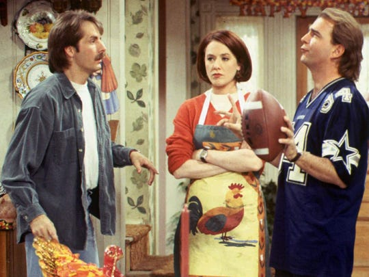 """""""The Jeff Foxworthy Show"""" (1995-1997) featured Foxworthy (left), Ann Cusack and Bill Engvall."""
