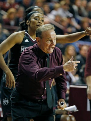 Mississippi State \coach Vic Schaefer was able to use his bench on Sunday in a win against Texas.