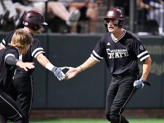 Mississippi State senior center fielder Jake Mangum had a huge hand in sending the Bulldogs through to the Super Regional round of the 2019 NCAA Baseball Tournament. Mangum broke out of his slump with three hits in MSU's win over Miami.