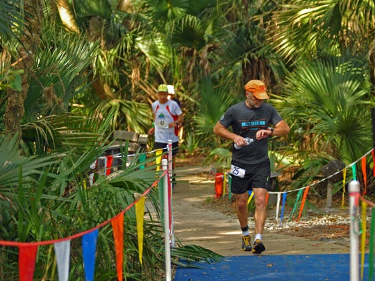 Almost 70 people began the 32-hour run at 7 a.m. Saturday at the Enchanted Forest Sanctuary in Titusville.
