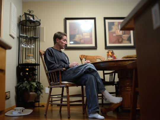 Cal Monfils, brother of Tom Monfils, at his home in Green Bay, Wis. on Wednesday, Nov. 5, 2014.