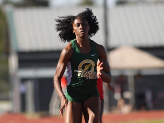 Lincoln's Tamani Wilson won the 100 and 200 on Saturday