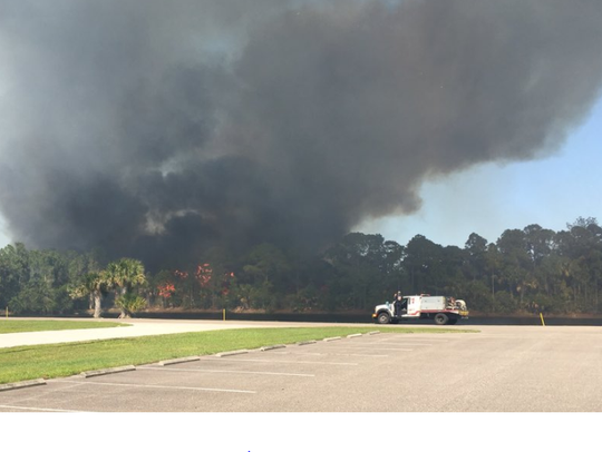 A small brush fire was reported near Micco Road on Sunday. Saturday, firefighters battled a blaze off John Rodes Boulevard in Melbourne.