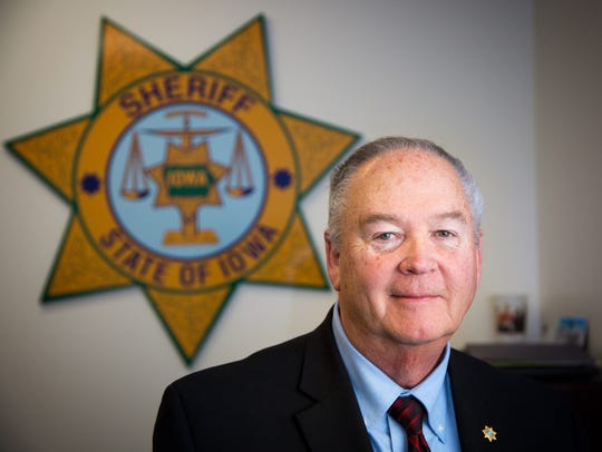 Polk County Sheriff Bill McCarthy stands for a portrait