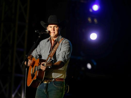 Country Musician Jon Pardi performs during Luke Bryan's