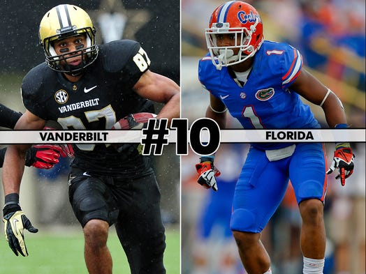 Vanderbilt (4-4, 1-3) at Florida (4-4, 3-3), 12 p.m. ET, ESPN3: The reeling Gators have lost three in a row and will need to win this one if they hope to finish even at .500 - and possibly save Will Muschamp's job.