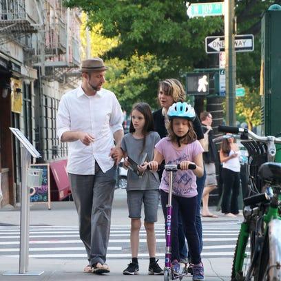 Daniel Friedman, Lora LaVon and their daughters, Binah,