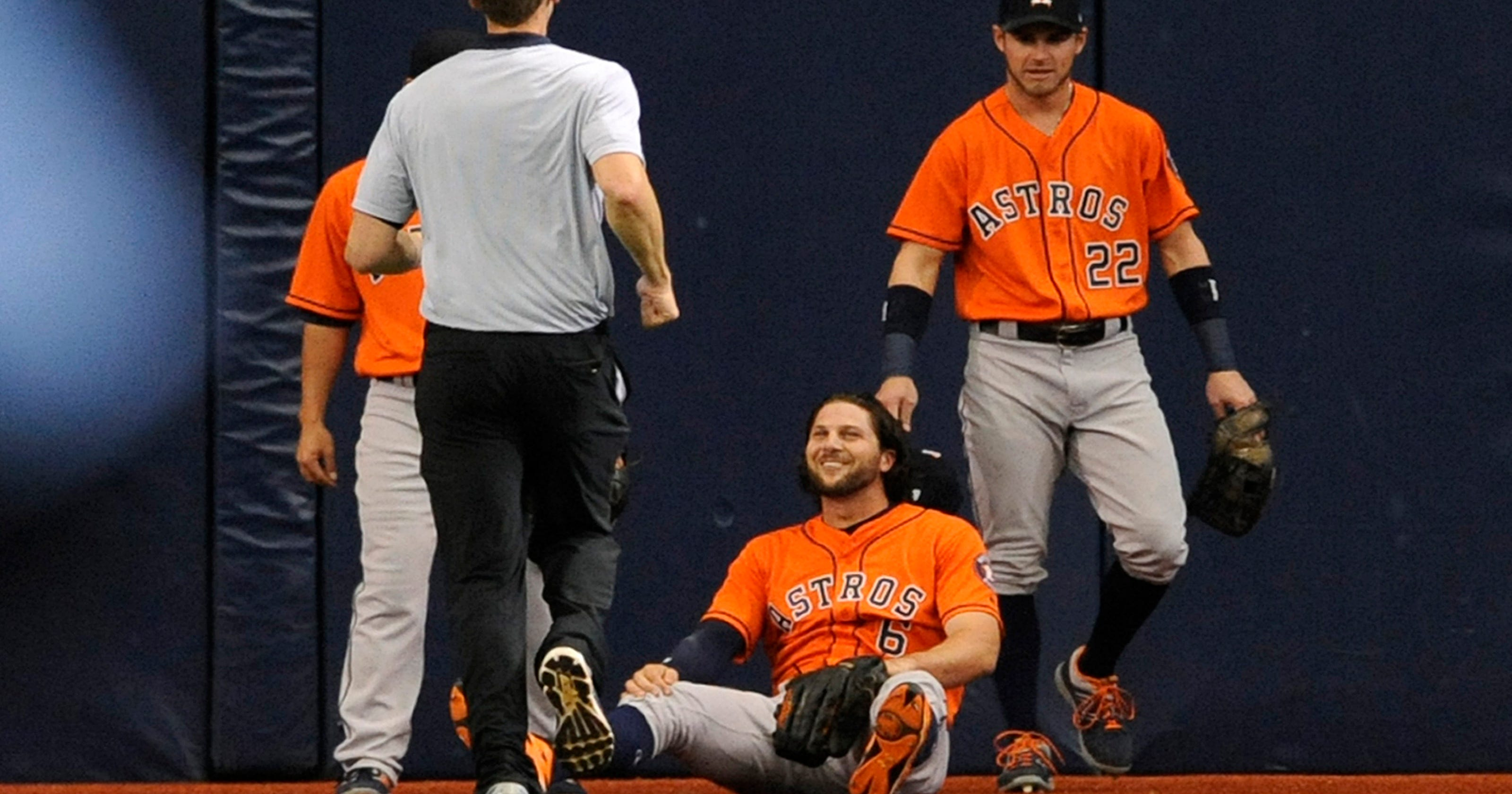 hot sale online 1a4f4 d0b73 Astros place OF Jake Marisnick on 7-day concussion DL