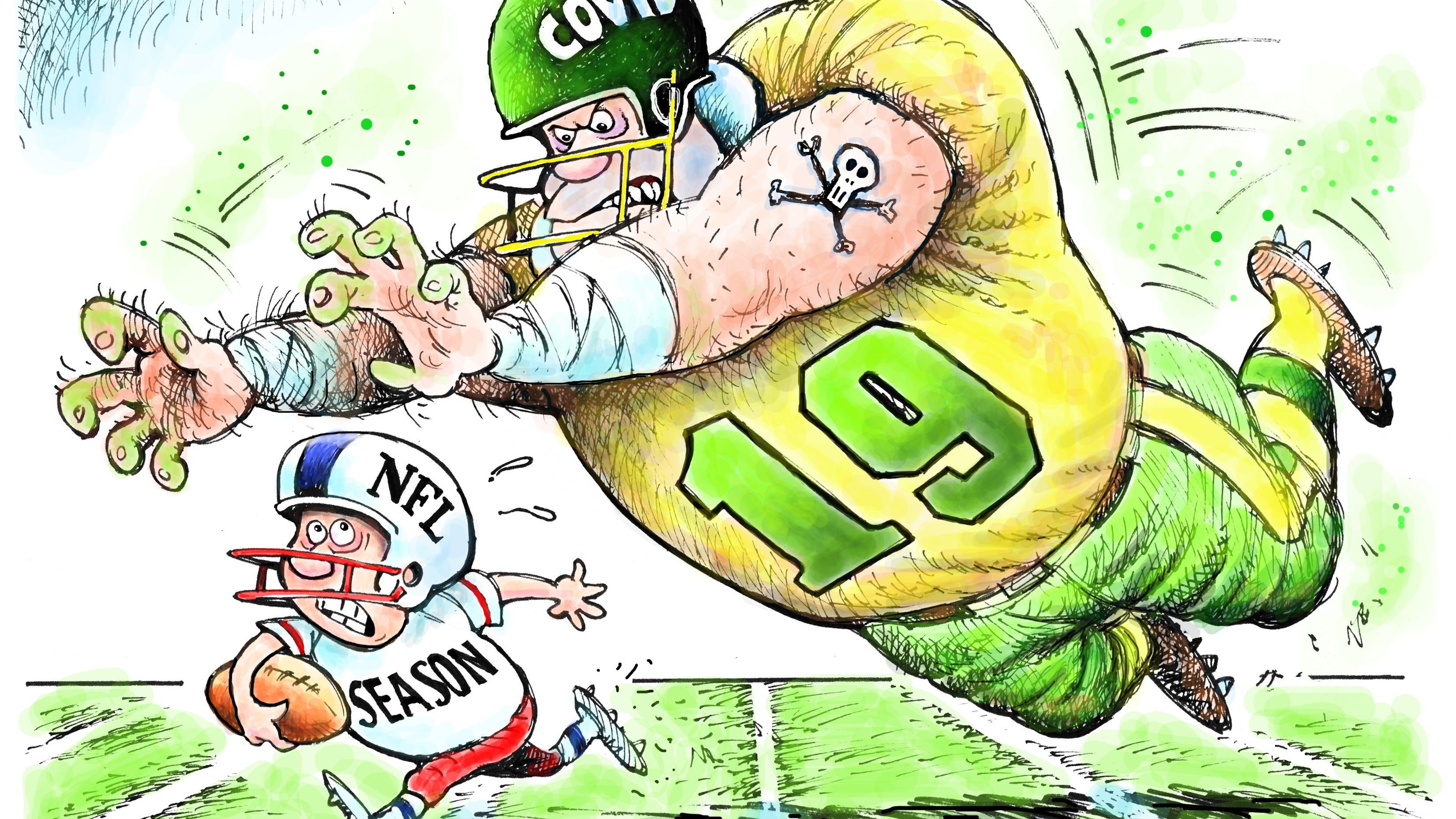 Granlund cartoon: NFL season in doubt