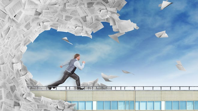 A paperless office takes discipline but will help you escape the wave of files and papers cluttering your office.