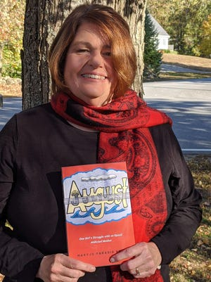 """Retired Dover Middle School teacher Maryjo Paradis-Smith wrote the book """"July in August: One Girl's Struggle with an Opioid Addicted Mother,"""" which was inspired by true stories about the impact of drugs on her former students."""