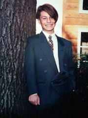 Curtis Adam Goldman at his bar mitzvah at 13 years