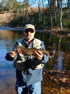 Bob Ski recently caught some big rainbow trout on the Bushkill River in Pennsylvania.
