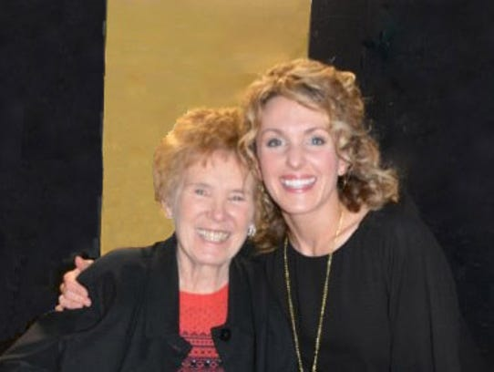 Marion Mills (left) with former student Emily Seale.