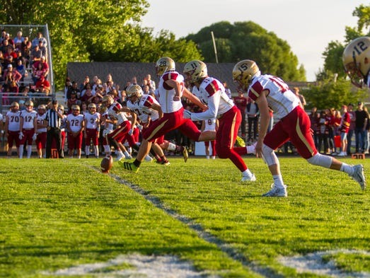 Cedar kicks off to start Friday's game against Canyon