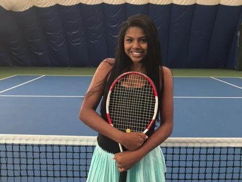 """West Bloomfield freshman Anika Yarlagadda is one of the top-ranked under-18 players in the Midwest. """"She's got a bright future,"""" said her private coach Armand Molino. """"She competes really well. Tennis is one-on-one combat and she thrives on that."""""""