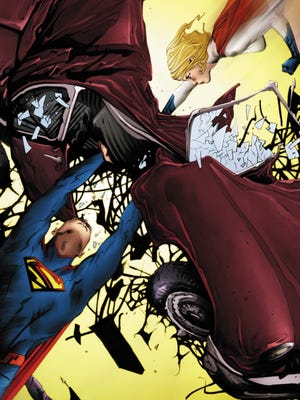 """Superman finds in Power Girl a Kryptonian cousin from Earth 2 who's just as powerful as he is in """"Batman/Superman."""""""