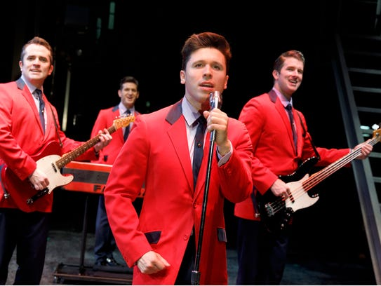 """The cast of """"Jersey Boys"""" are show."""