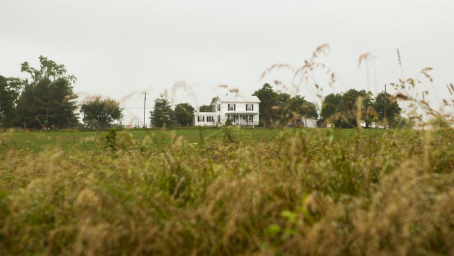 A house sits along land in Weyers Cave that Augusta County is attempting to rezone from agricultural to industrial on Wednesday, June 3, 2015.