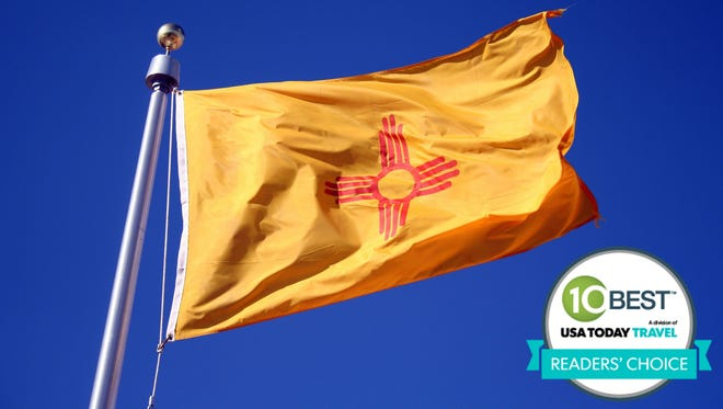 """New Mexico was voted the """"Best State Flag"""" in 10Best.com's Readers' Choice contest."""