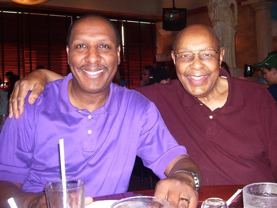 Chuck Stokes and his father Louis Stokes