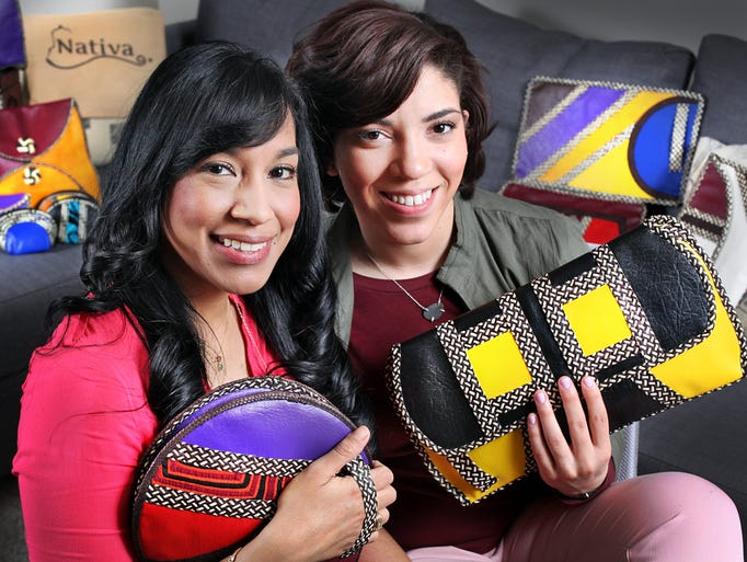 Art Institute of Indianapolis grads Lila Sierra (left) and Allyson Brooks have started a fashion design and handbag business named Nativa: Your Fashion Multicultural Experience.