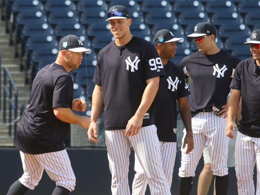 Spring Training 2018 -- First full squad workout for the Yankees.