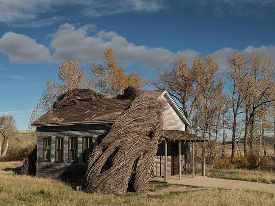 "Artist Patrick Dougherty created ""Daydreams,"" which"