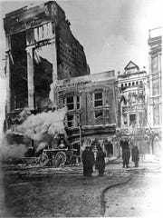 Sibley, Lindsay & Curr Co. fire in 1904. Located on
