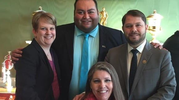 U.S. Rep. Ruben Gallego, D-Ariz. (far right), with