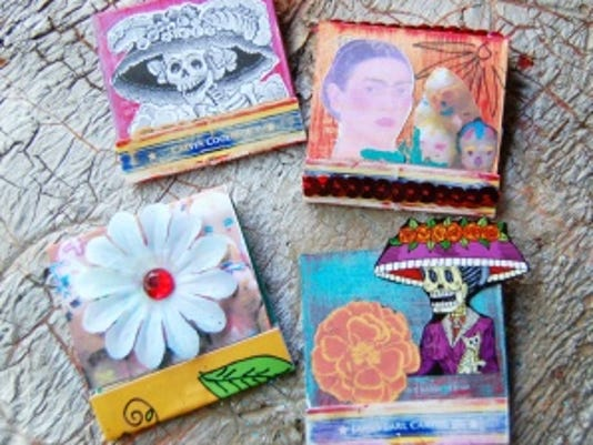 Day of the Dead matchbook shrines
