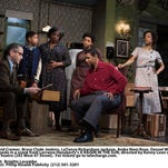 """David Cromer (left to right), Bryce Clyde Jenkins, Latanya Richardson Jackson, Anika Noni Rose, Denzel Washington and Sophie Okonedo in a scene from the revival of """"A Raisin in the Sun."""""""