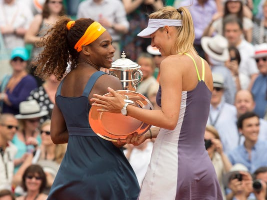 USP TENNIS: FRENCH OPEN-S. WILLIAMS VS SHARAPOVA S TEN USA [E