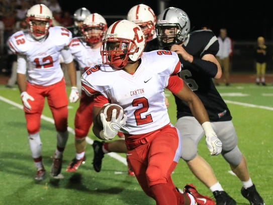In the first half at least, Canton running back Markus