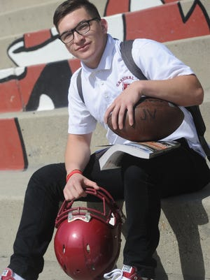 After a difficult upbringing, Thomas Sanchez worked hard day in and day out on the football field and in the classroom. The team captain for the Santa Paula High football team last fall, Sanchez is headed to Chico State this fall.