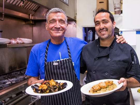 Andrea Volpi, left, and Guillermo Alcala, right, are chefs at La Locanda Ristorante Italiano in Scottsdale, Tuesday, June 14, 2017.