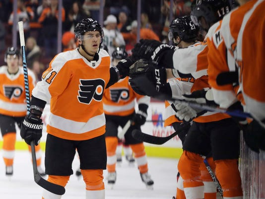 low priced f404b 04e47 Konecny leads Flyers past Devils 3-1 with goal, assist
