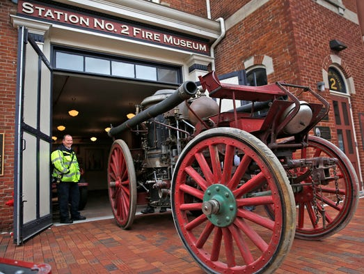 A nineteenth century American LaFrance Fire Engine