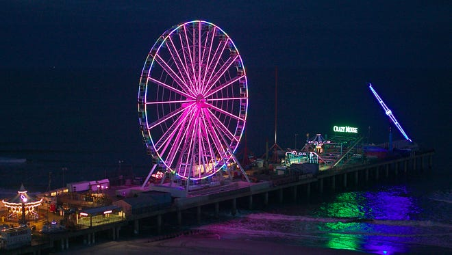 The Wheel offers a sweeping view of the southern Jersey Shore from Atlantic City's Steel Pier.