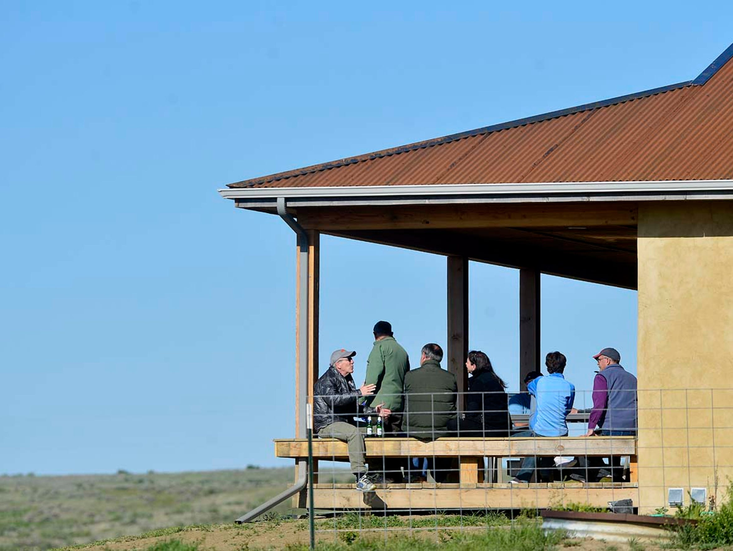 Special guests of the American Prairie Reserve socialize