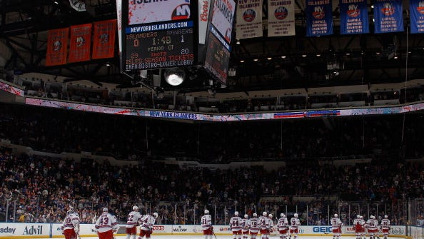 The Rangers and Islanders have had their share of heated battles at Nassau Coliseum.