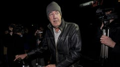 British TV presenter Jeremy Clarkson leaves his flat
