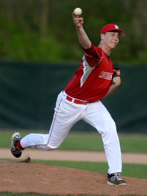 Richmond's John Cheatwood pitches to Anderson during a recent baseball game on John Cate Field at McBride Stadium.