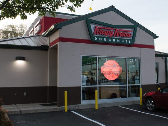 An exterior view of Krispy Kreme on North Salisbury